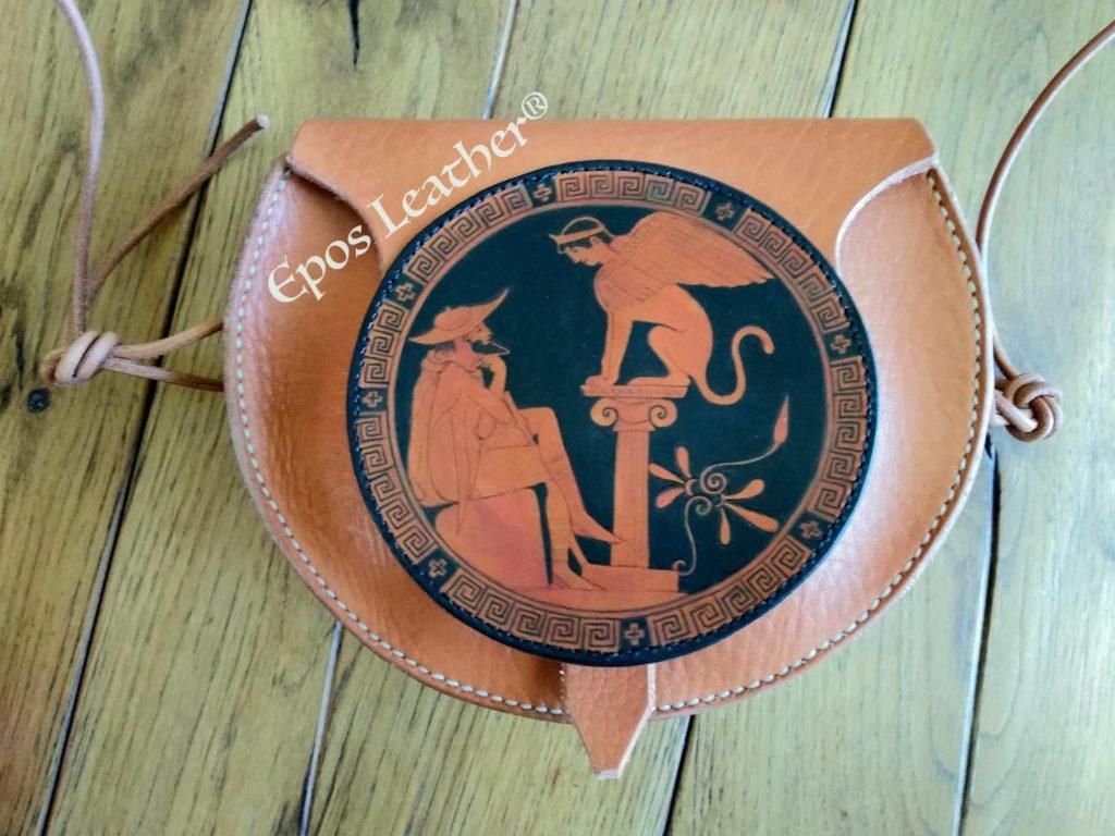 Ancient Greek bag: Oedipus & the sphinx bag post thumbnail